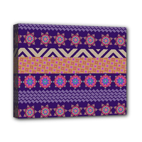 Colorful Winter Pattern Canvas 10  X 8  by DanaeStudio