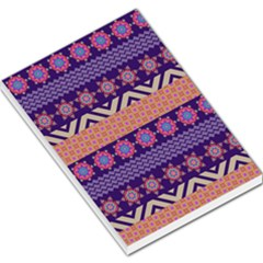 Colorful Winter Pattern Large Memo Pads by DanaeStudio
