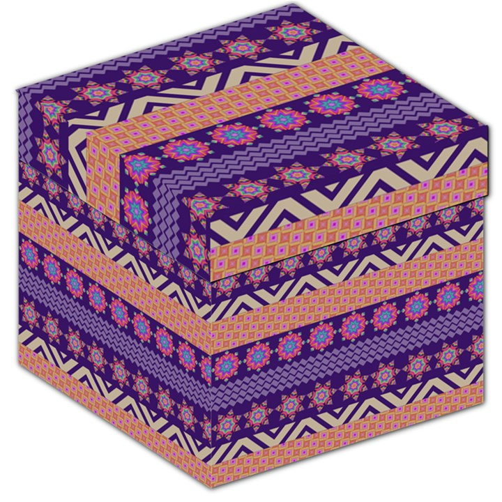 Colorful Winter Pattern Storage Stool 12