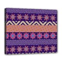 Colorful Winter Pattern Deluxe Canvas 24  x 20   View1