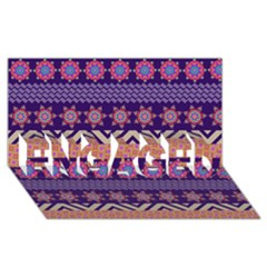 Colorful Winter Pattern Engaged 3d Greeting Card (8x4)