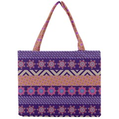 Colorful Winter Pattern Mini Tote Bag by DanaeStudio