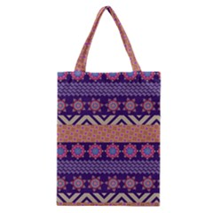 Colorful Winter Pattern Classic Tote Bag by DanaeStudio