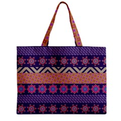 Colorful Winter Pattern Zipper Mini Tote Bag by DanaeStudio