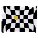 Dropout Yellow Black And White Distorted Check Apple iPad 3/4 Hardshell Case (Compatible with Smart Cover) View1