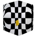 Dropout Yellow Black And White Distorted Check Apple iPad Mini Flip Case View4