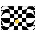 Dropout Yellow Black And White Distorted Check Samsung Galaxy Tab 8.9  P7300 Flip Case View1
