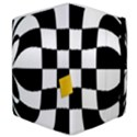 Dropout Yellow Black And White Distorted Check Samsung Galaxy Tab 8.9  P7300 Flip Case View4