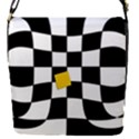 Dropout Yellow Black And White Distorted Check Flap Covers (S)  View1