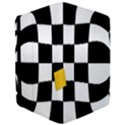 Dropout Yellow Black And White Distorted Check iPad Air Flip View3