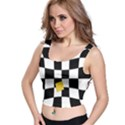 Dropout Yellow Black And White Distorted Check Crop Top View1