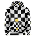 Dropout Yellow Black And White Distorted Check Men s Pullover Hoodie View1