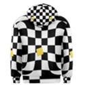 Dropout Yellow Black And White Distorted Check Men s Pullover Hoodie View2