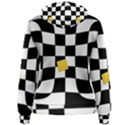 Dropout Yellow Black And White Distorted Check Women s Pullover Hoodie View2