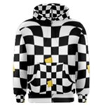 Dropout Yellow Black And White Distorted Check Men s Zipper Hoodie