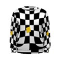 Dropout Yellow Black And White Distorted Check Women s Sweatshirt View1