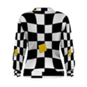 Dropout Yellow Black And White Distorted Check Women s Sweatshirt View2