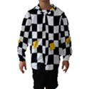 Dropout Yellow Black And White Distorted Check Hooded Wind Breaker (Kids) View1