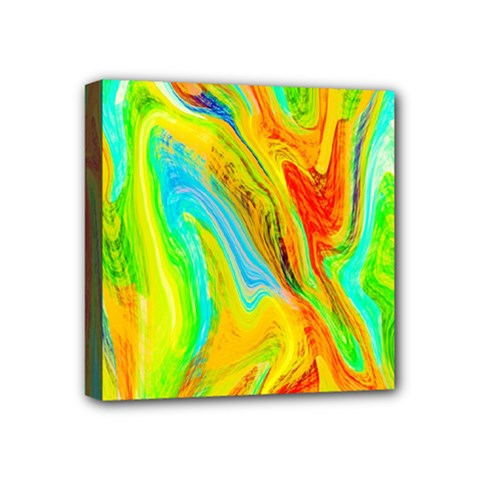Happy Multicolor Painting Mini Canvas 4  X 4  by designworld65