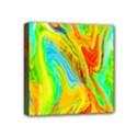 Happy Multicolor Painting Mini Canvas 4  x 4  View1
