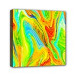 Happy Multicolor Painting Mini Canvas 6  x 6