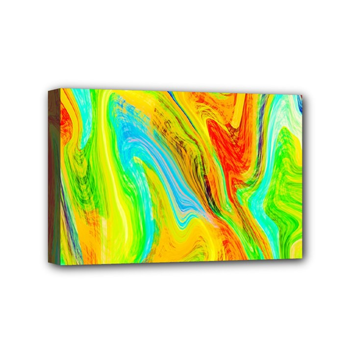 Happy Multicolor Painting Mini Canvas 6  x 4