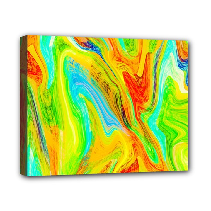 Happy Multicolor Painting Canvas 10  x 8