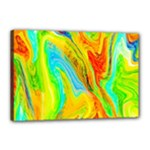 Happy Multicolor Painting Canvas 18  x 12