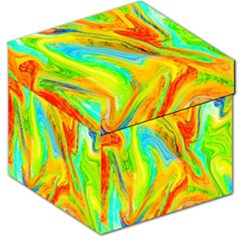Happy Multicolor Painting Storage Stool 12   by designworld65