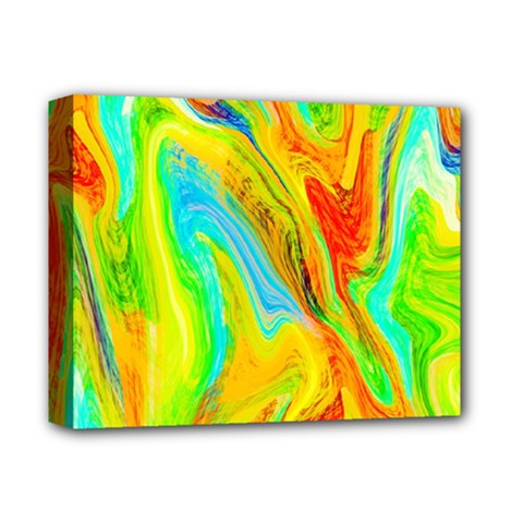 Happy Multicolor Painting Deluxe Canvas 14  X 11  by designworld65
