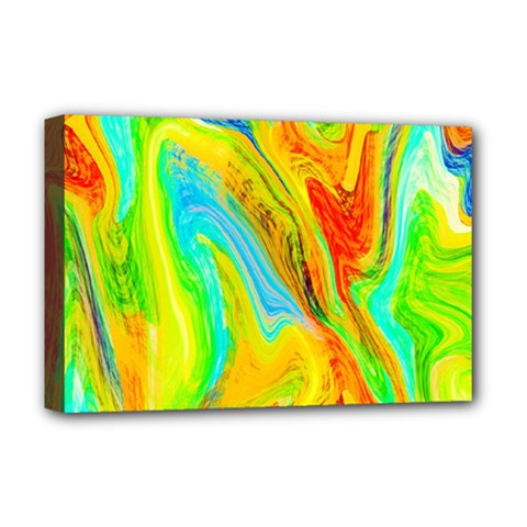 Happy Multicolor Painting Deluxe Canvas 18  X 12   by designworld65