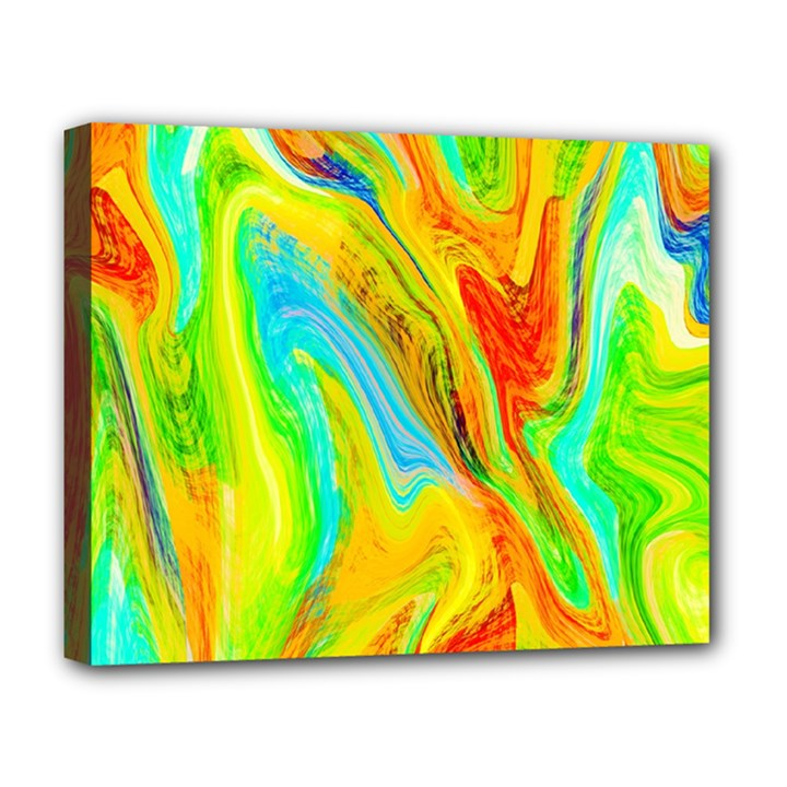 Happy Multicolor Painting Deluxe Canvas 20  x 16