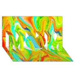 Happy Multicolor Painting Mom 3d Greeting Card (8x4) by designworld65