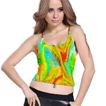 Happy Multicolor Painting Spaghetti Strap Bra Top