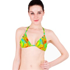 Happy Multicolor Painting Bikini Top by designworld65