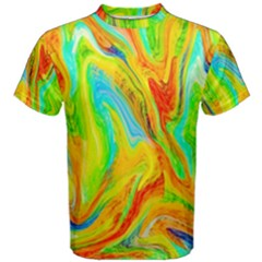 Happy Multicolor Painting Men s Cotton Tee by designworld65