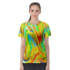 Happy Multicolor Painting Women s Sport Mesh Tee by designworld65