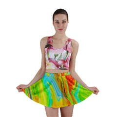 Happy Multicolor Painting Mini Skirt by designworld65