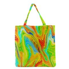 Happy Multicolor Painting Grocery Tote Bag by designworld65