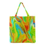 Happy Multicolor Painting Grocery Tote Bag
