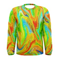 Happy Multicolor Painting Men s Long Sleeve Tee by designworld65
