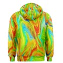 Happy Multicolor Painting Men s Pullover Hoodie View2