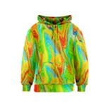 Happy Multicolor Painting Kids  Zipper Hoodie