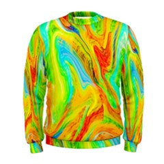 Happy Multicolor Painting Men s Sweatshirt by designworld65