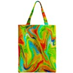 Happy Multicolor Painting Zipper Classic Tote Bag
