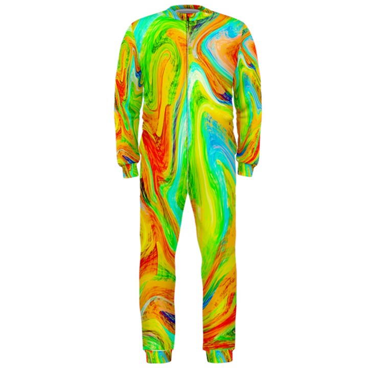 Happy Multicolor Painting OnePiece Jumpsuit (Men)