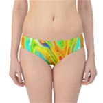 Happy Multicolor Painting Hipster Bikini Bottoms