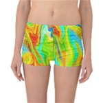 Happy Multicolor Painting Reversible Boyleg Bikini Bottoms