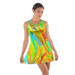 Happy Multicolor Painting Cotton Racerback Dress