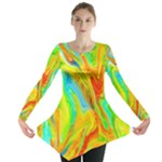 Happy Multicolor Painting Long Sleeve Tunic